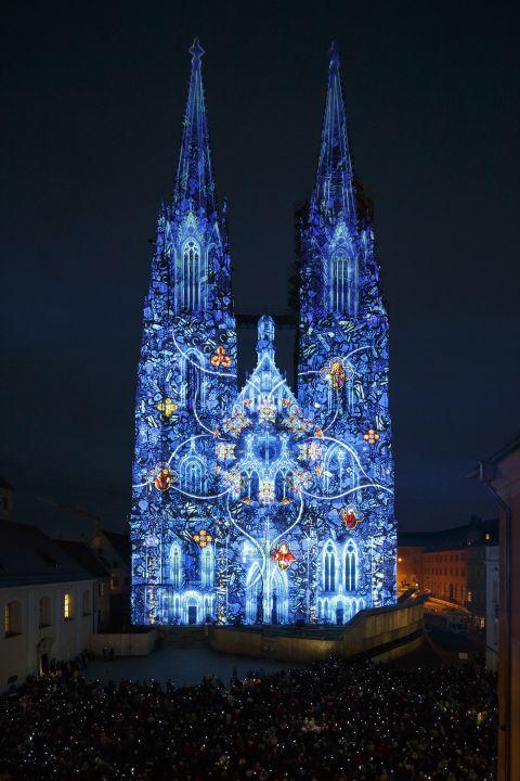 Lichtershow dom regensburg