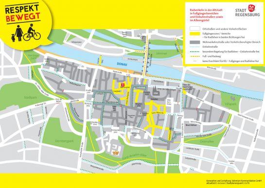 Karte Regensburg Altstadt.Stadt Regensburg Fahrrad Radfahren In Der Altstadt
