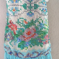gestrickter Perlenbeutel für Kurs im April 2015 (c) Flügel-Eber Claudia